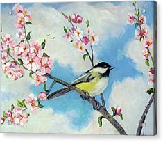 Acrylic Print featuring the painting Spring's Promise by Donna Tucker