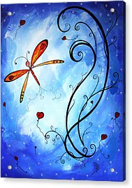 Springs Sweet Song Original Madart Painting Acrylic Print by Megan Duncanson
