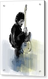 Springsteen Bruce Springsteen Acrylic Print by Iconic Images Art Gallery David Pucciarelli