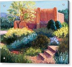 Springtime Adobe Acrylic Print by Candy Mayer