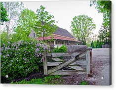 Springtime At Plymouth Meeting Friends Acrylic Print by Bill Cannon