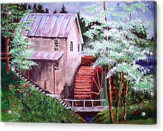 Acrylic Print featuring the painting Springtime At The Old Mill by Jim Phillips