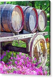 Springtime At V Sattui Winery St Helena California Acrylic Print