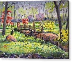 Springtime Backyard Acrylic Print by Spencer Meagher