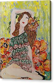Springtime Acrylic Print by Cynda LuClaire