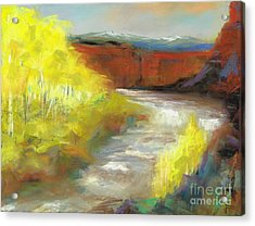 Acrylic Print featuring the painting Springtime In The Rockies by Frances Marino