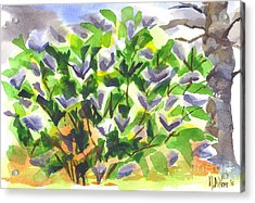 Acrylic Print featuring the painting Springtime Lilac Abstraction by Kip DeVore