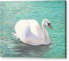 Springtime On The River Acrylic Print