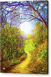 Springtime Pathway Discoveries Acrylic Print