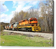 Springtime Train Acrylic Print