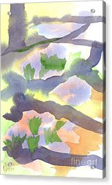Acrylic Print featuring the painting Springtime Wildflower Camouflage  by Kip DeVore
