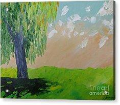 Springtime Willow Acrylic Print by Stella Sherman
