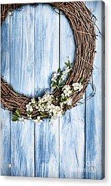 Springtime Wreath Acrylic Print