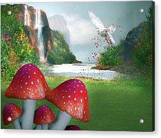 Sprinkling Red Magic Acrylic Print