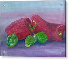 Sprouts And Peppers Acrylic Print