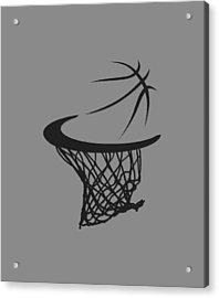 Spurs Basketball Hoop Acrylic Print by Joe Hamilton