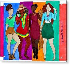 Squad Acrylic Print by Diamin Nicole