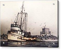 Squalicum Harbor Acrylic Print by James Williamson