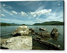 Acrylic Print featuring the photograph Squam Lake On The Rocks by Rick Frost