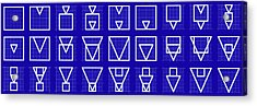 Squangle -alphabet- Grid Blueprint Acrylic Print by Coded Images