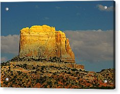 Square Butte - Navajo Nation Near Kaibeto Az Acrylic Print by Christine Till