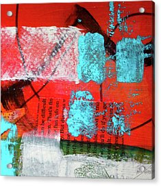 Acrylic Print featuring the mixed media Square Collage No. 10 by Nancy Merkle