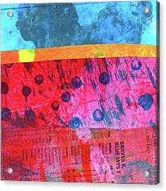 Acrylic Print featuring the painting Square Collage No. 12 by Nancy Merkle