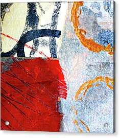 Acrylic Print featuring the painting Square Collage No. 3 by Nancy Merkle