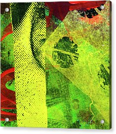 Acrylic Print featuring the mixed media Square Collage No. 8 by Nancy Merkle