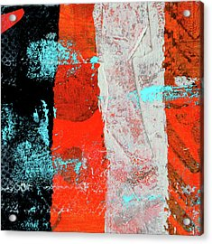 Acrylic Print featuring the mixed media Square Collage No. 9 by Nancy Merkle