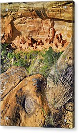 Square Tower House At Mesa Verde National Park - Colorado - Pueblo Acrylic Print by Jason Politte