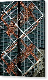 Squared Christmas Acrylic Print by Jez C Self