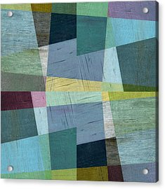 Acrylic Print featuring the digital art Squares And Shims by Michelle Calkins