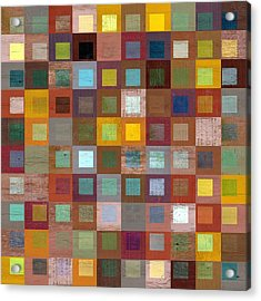 Acrylic Print featuring the digital art Squares In Squares Four by Michelle Calkins