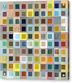 Squares In Squares Three Acrylic Print by Michelle Calkins
