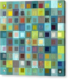Acrylic Print featuring the digital art Squares In Squares Two by Michelle Calkins