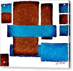 Squares Long And Short Acrylic Print by Marsha Heiken