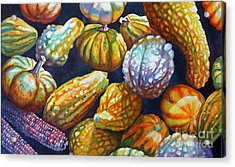 Squash Acrylic Print by Gail Zavala