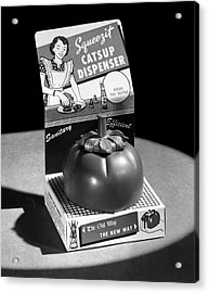 Squeezit Catsup Dispenser Acrylic Print by Underwood Archives