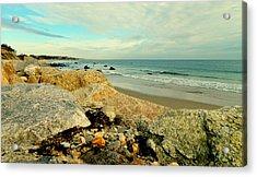 Squibby Cliffs And Mackerel Sky Acrylic Print