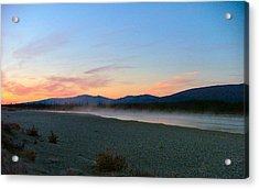 Squirell River In The Morning Acrylic Print by Adam Owen