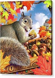 Squirrel Treasure Acrylic Print