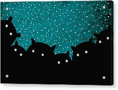Squirrels In The Night Acrylic Print