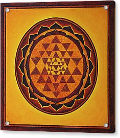 Sri Yantra - The Glow Of The Beloved Acrylic Print
