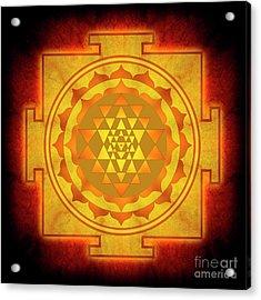 Sri Yantra - No. 1 Acrylic Print by Dirk Czarnota