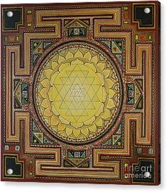 Sri Yantra Acrylic Print by Karl Seitinger