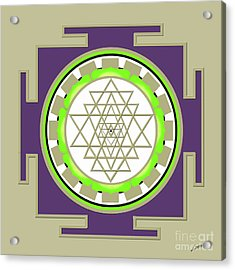 Sri Yantra Of Prosperity Acrylic Print