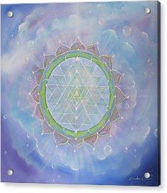 Sri Yantra Acrylic Print by Sundara Fawn