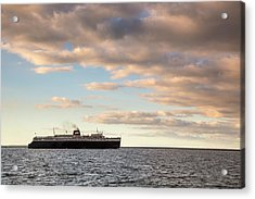 Ss Badger Leaving Port Acrylic Print