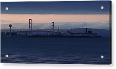 Ss Keewatin And Mackinac Bridge Acrylic Print